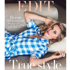 Making gingham gorgeous... The brilliant @reesewitherspoon on this week's cover of @netaporter's #theedit in her line @draperjames makes me want to channel my inner Southern belle 💙 Bravo @jennifer_dickinson @theannabelbrog @ttstyle @davidbellemere and @gemmastark 💙and thank you Reese and team!  via ✨ @padgram ✨(http://dl.padgram.com)
