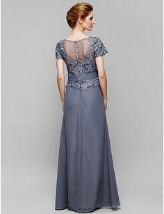 Lanting Невеста Футляр Платье для матери невесты В пол Короткий рукав Шифон…
