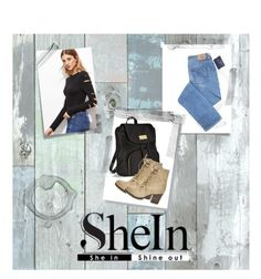 """SheIn outfit idea"" by hanny01h ❤ liked on Polyvore featuring Wall Pops!, Post-It, Victoria's Secret and Steve Madden"