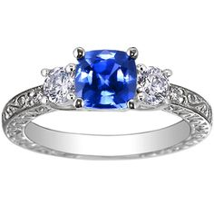 this would be a perfect engagement ring for me since my birthstone is saphire