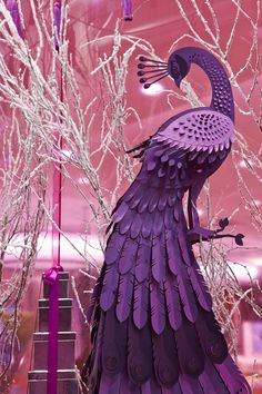 Beautiful purple—gorgeous paper design created for this Christmas 2013 window display—Royal Jeweler, Mappin & Webb, UK—The Makerie Studio, New York, NY—Behance.net❣