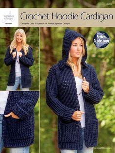 Crochet hoodie cardigan pattern FOR SALE ~k8~