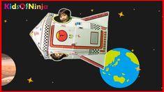 ごっこ遊び 段ボール工作 ロケット作って 宇宙へ行ってみた♪ アニメ 動画 Cardboard Toy DIY Rocket Going To ...