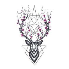 Wyuen Hot Designs Deer Temporary Tattoo For Adult Man Woman Waterproof – nantahalas