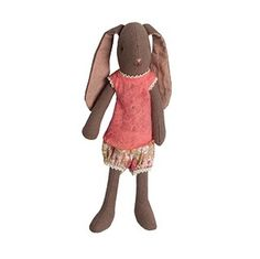 Maileg Mini Bunny Chocolate The gorgeous Mini Bunny is a gorgeous addition for your Maileg collection.   Includes the printed under garments with extra outfits available to purchase seperately $36.95 #easter #bunny #gift Maileg Bunny, Teddy Bear, Room Decorations, Chocolate, Kids Gifts, Toys, Easter Bunny, Mini, Prints