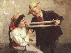 La carezza - Eugenio Zampighi (1859-1944) EUGENIO ZAMPIGHI (Modena, 1859 – Maranello, 1944) #TuscanyAgriturismoGiratola