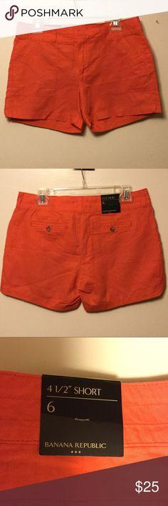NWT. Women's Banana Republic Red Shorts. NWT. Women's Banana Republic Red Shorts. Size- 6. 4 1/2 inch shorts. Banana Republic Shorts Bermudas