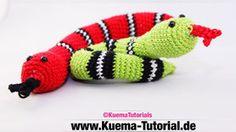 Schlange,Natter,Tier,Reptil ,Häkeln,Anleitung,Kostenlos,Free patterns,Tutorial, Video ,Anfänger,