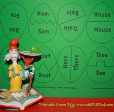 obSEUSSed: Green Eggs and Ham Activities and Free Printable