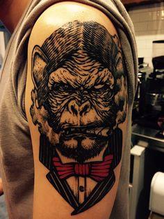 monkey tattoo 3rd