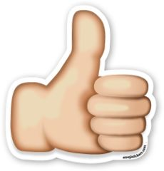 Thumbs Up Sign | Emoji Stickers