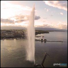 Beautiful Geneva #genevatourism #visitgeneva #visitgva #aerial #aerialview #aerialphoto #aerialcity #drone #dronephoto #dronefly #dronestagram #droneoftheday #picoftheday #photoofheday #S1000 #camera #sony #nex7 #panorama #360 Aerial View, Switzerland, Fields, Sony, Waterfall, Beautiful, Outdoor, Image