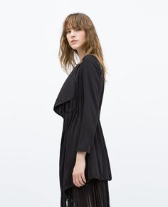 149 tl   LONG FLOWING JACKET WITH CORD - View all - Outerwear - WOMAN | ZARA Turkey