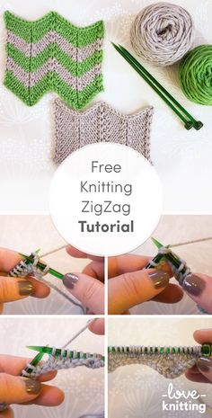 Knitting Patterns Stitches The zigzag stitch, also sometimes known as chevron, is a great stitch for home decor and accessories… Knitting Stiches, Knitting Videos, Baby Knitting Patterns, Knitting Yarn, Free Knitting, Stitch Patterns, Crochet Patterns, Knit Stitches, Vogue Knitting