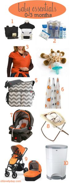 newborn baby essentials 0-3 months | Lovely Ever After on ohlovelyday.com