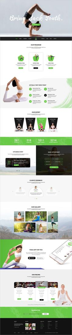 Deho is clean and modern design #PSD template for #yoga, gym or health related service #website with 3 homepage layouts and 22 organized PSD pages download now➩ https://themeforest.net/item/deho-yoga-gym-health-related-psd-template/18533522?ref=Datasata