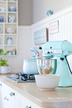 Kitchen Aid mixer in adorable color!