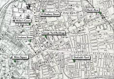 1888 Ordinance Survey Map of Whitechapel Area Where all murders happened