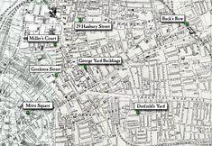 1888 Ordinance Survey Map of Whitechapel Area Where all murders happened