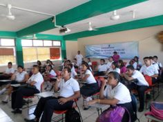Drug education to high school kids by Narconon Cancun.