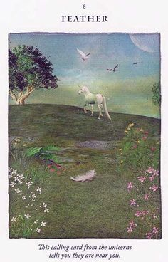 """Feather"" – Unicorn Card – Diana Cooper"