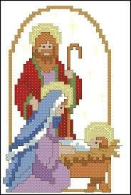 Resultado de imagen para THE HOLY FAMILY IN CROSS STITCH