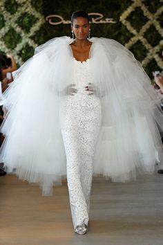 Oscar de la Renta Spring 2013 white floral bridal gown