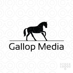 Gallop Media Logo #horse #silhouette