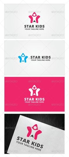 Star Kids Logo Template   http://graphicriver.net/item/star-kids-logo-template/8600701?ref=damiamio       Star
