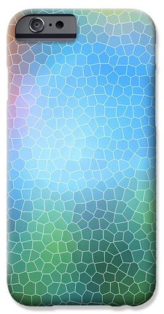 Abstract Glass Pattern iPhone 6 Case by Christina Rollo.  Protect your iPhone 6 with an impact-resistant, slim-profile, hard-shell case.  The image is printed directly onto the case and wrapped around the edges for a beautiful presentation.  Simply snap the case onto your iPhone 6 for instant protection and direct access to all of the phones features!