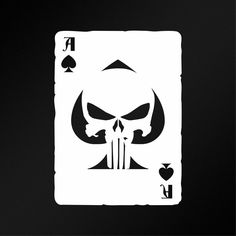 Ace Of Spades Old Playing Card Punisher Skull JDM Car Laptop Vinyl Decal Sticker #Oracal