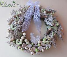 őszi kopogtató hamvaskával (30cm) Christmas Wreaths, Holiday Decor, Home Decor, Christmas Swags, Decoration Home, Holiday Burlap Wreath, Interior Design, Home Interior Design, Christmas Garlands