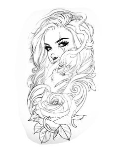 Tribal Tattoo Designs, Tribal Sleeve Tattoos, Skull Tattoo Design, Dragon Tattoo Designs, Flower Tattoo Designs, Tattoo Girls, Skull Girl Tattoo, Tattoos Skull, Girl Tattoos
