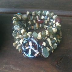 Embrace Your Inner Peace Five Wrap Memory Wire by DFInspirations, $45.00