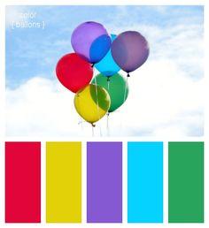 color ballons Colour Pallette, Colour Schemes, Color Combinations, Summer Color Palettes, Summer Colors, Dress Design Drawing, Color Pairing, Color Balance, Colour Board