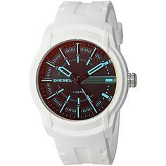 Diesel Men's DZ1818 'Armbar' White Silicone Watch
