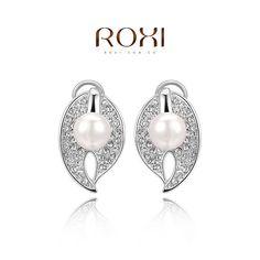 Aliexpress.com: Comprar ROXI nueva llegada platino plateado de la hoja con la perla, nueva llegada , regalo de Navidad para las mujeres , joyería de moda , 2020452525A de regalo fiable proveedores en Bad Guy Jewelry(wholesale center)