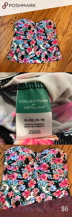 Collections by Catalina Bandeau Tankini Swimsuit Collections by Catalina Bandeau Tankini Top. XL (16/18). Like new condition.  *** I am cleaning out my swimsuits and listing them as I go. Lots of different styles & sizes in my closet for sale. *** Collections by Catalina Swim