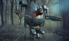 Character Robot - Detailed and PBR, Francesco Furneri on ArtStation at https://www.artstation.com/artwork/WoP2Q