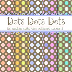 Thursday's Guest Freebies ~ Teacher Yani (Deviant Art)  ✿ Follow the Free Digital Scrapbook board for daily freebies: https://www.pinterest.com/sherylcsjohnson/free-digital-scrapbook/ ✿ Visit GrannyEnchanted.Com for thousands of digital scrapbook freebies. ✿ Free Polka Dots Patterned Papers 2 by TeacherYanie