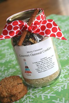 Oatmeal cookie mix. Great neighbor gifts
