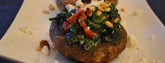 Portobello's met spinazie, tomaat en feta