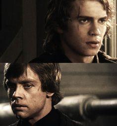Anakin and Luke Skywalker