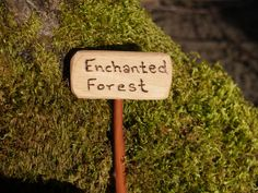 Enchanted Forest, Fairy Garden Sign.