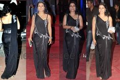 Kajol in Rakesh Agarwal Saree Drape | Saree Blouse Patterns