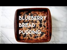 Blueberry Bread Pudding is put together in less than 10 minutes with a few simple ingredients. Bake while you're eating dinner for the perfect dessert! Blueberry Bread Pudding, Blueberry Biscuits, Biscuit Bread, Amy, Baking, Dinner, Breakfast, Simple, Kitchen