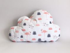 Flamingo cloud cushion
