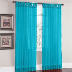 BrylaneHome® Studio Voile Tab-Top Curtain