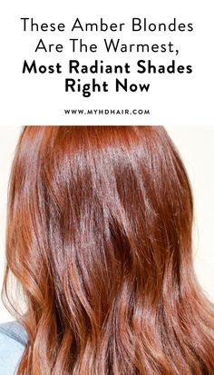 These Amber Blondes Are The Warmest, Most Radiant Shades Right Now Dark Blonde Hair Color, Bold Hair Color, Copper Blonde, Hair Color Auburn, Auburn Hair, Copper Hair, Amber Hair Colors, Brown Hair Colors, Hair Colours