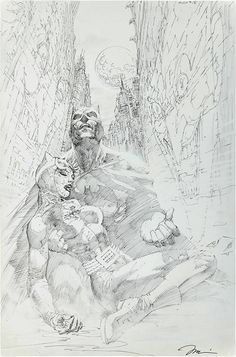 Jim Lee Pencil Batman Catwoman